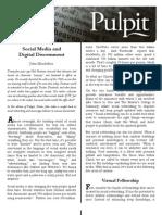 Pulpit Social Media and Digital Discernment 11-10-2010