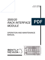 3500 20 Rack Interface Module Operations and Maintenance Man