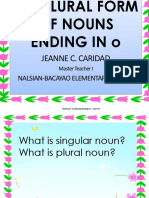 Forming Plural Nouns Ending in o