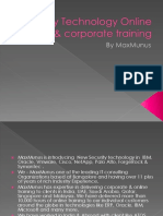 Security Corporate Training Provided By MaxMunus