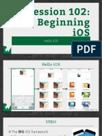 Slides 102 Beginning IOS