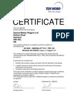 16334 01 Cert Special Metals