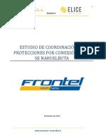 Informe de Coordinación de Protección Por Conexión de La SE Nahuelbuta