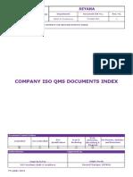 Fm-qaqc-0001 Company Iso Qms Documents Index