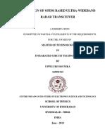 RTL Design of OFDM Based Ultra-wide Band Radar Transceiver_thesis