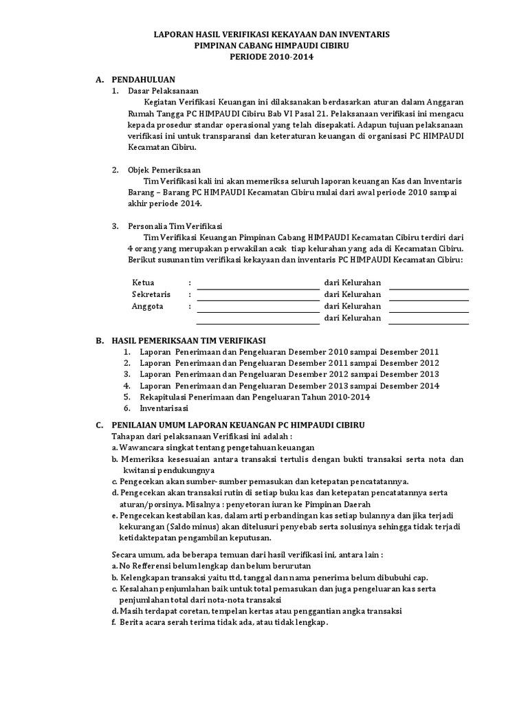 Laporan Hasil Verifikasi Keuangan Docx
