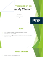 Presentation on Kinds of Duties