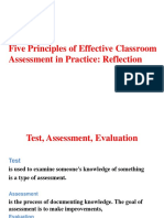 The Principles of classroom assesment