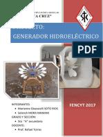 Proyecto Generador Hidroelectrico Marianne