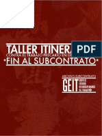 Taller Itinerante Fin Al Subcontrato Julio 2016