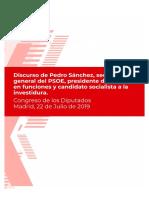 Intervención investidura Pedro Sánchez