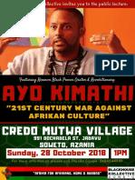 Ayo Kimathi - Credo Mutwa Cultural Village - Soweto