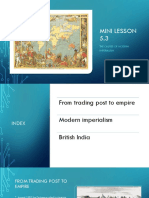 History Mini Lesson causes of modern imperialism