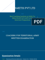 Best Territorial Army Coaching in Delhi