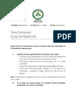 Tarea Estructura Del Texto. SEMANA 4