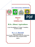 Bsc agri syllabus new