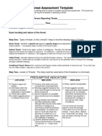 Threat assessment Template