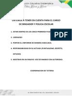 Criterios de Eleccion de Brigadieres
