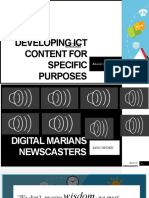 Developing Ict Content for Specific Purposes