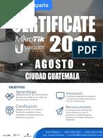 Certificaciones Agosto