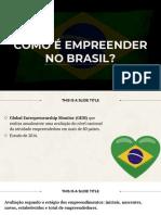 AULA 3 Dados Do Empreendedorismo Brasil