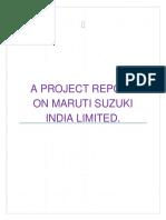 A Project Report on Maruti Suzuki India
