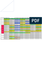 A demo excel sheet for timetable format
