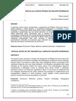 Aproximações Críticas Ao Curpus Teórico de Philippe Perrenoud