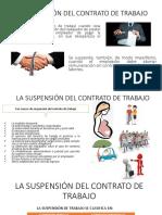 La Suspensión Del Contrato de Trabajo