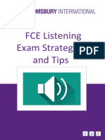 FCE LISTENING EXAM STRETEGIES AND TIPS