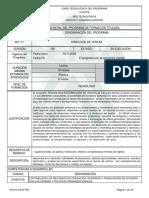Informe Programa de Formación Titulada DIRECCION de VENTAS
