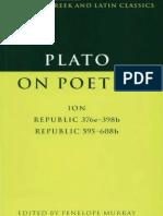 Plato on poetry