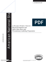Hazard evalution and safety data sheet and precautionary labeling preparation