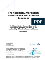 The Common Information Environment and Creative Commons