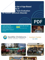 Evidence for the Use of Age-Based Diagnostic Tracks in Interdisciplinary Team Evaluation for Autism Spectrum Disorder