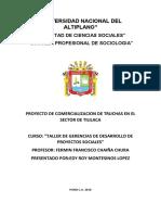Comercializacion de Truchas en El Sector de Tililaca