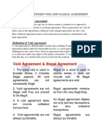 Difference Between Void and Illegal Agreement