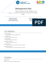 Detecting Autism Early - A Pilot to Train Providers, Screen Toddlers, and Support Families with Autism Concerns in Primary Care