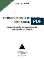 Streck 1999 a Viragem Linguistica Da Filosofia e o Rompimento Com a Metafisica Ou de p 137 154