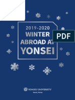 2019 Winter Abroad at Yonsei