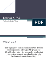 Teorías X, Y,Z