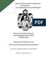 Tesis Nacional de Etica en Los Negocios