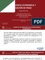 Insolvencia Economica y Sesacion de Pago