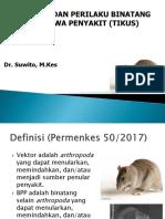 Ekologi Binatang Pembawa Penyakit (Tikus)