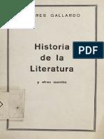Andrés Gallardo - Historia de La Literatura y Otros Cuentos