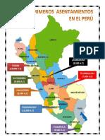 Mapa Del Peru Con Primeros Pobladores