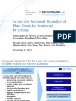 What the National Broadband Plan Does for National Priorities