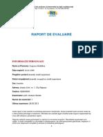 Model RAPORT de EVALUARE Pentru Autocunoastere - CEICA