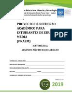 PRAEM -Segundo Año de Bachillerato 2019 (1)