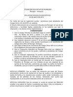 Resolución de Auxilios Escolares 2019